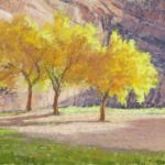 Lee McVey, Young Cottonwoods, Autumn. Pastel, 16 x 12 inches. ©The Artist