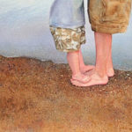 Dawn Brose-Jerome, One Step at a Time. Watercolor on paper.