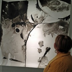 Kathy Knaus takes some pride in seeing her work Joni IV on exhibit in a Denver gallery.