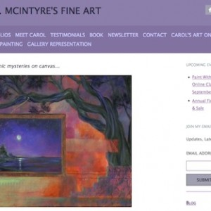 Carol A. McIntyre, one of my Gold Mastermind members, has her site at carolamcintyre.com and pointing from paintingharmony.com. She also owns 16 other URLs for her art, teaching, and books.