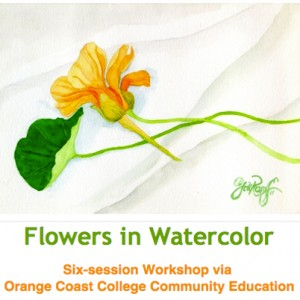 Jill Rosoff does a good job sending solo emails for events such as this watercolor workshop