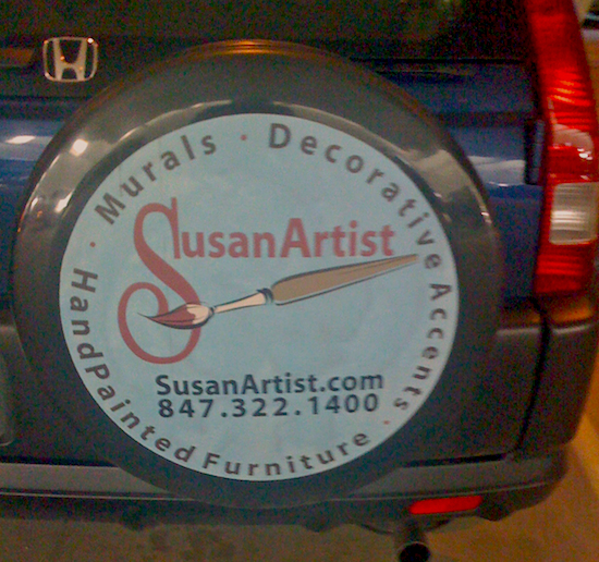 SusanArtist.com tire cover