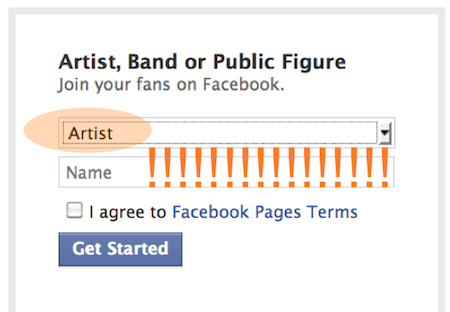 Create a Facebook page, steps 3-4
