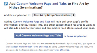 Facebook Welcome Tab - 3