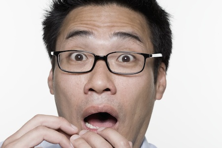 shocked man with glasses