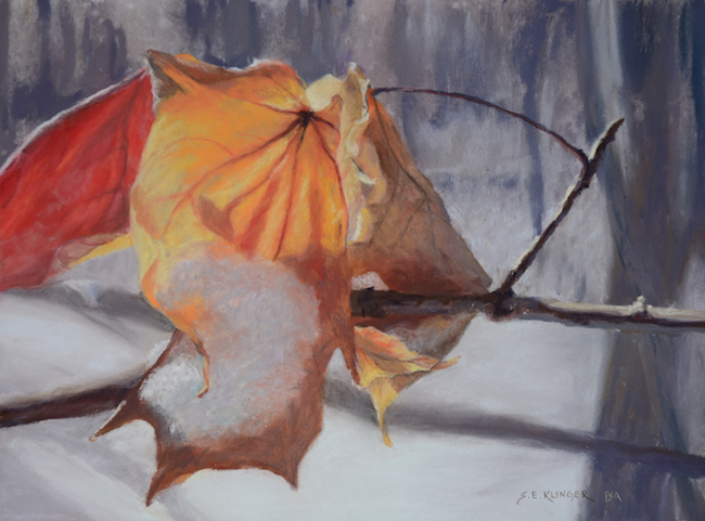 ©Susan Klinger, Autumn's Last Stand. Pastel, 9 x 12 inches. Used with permission.