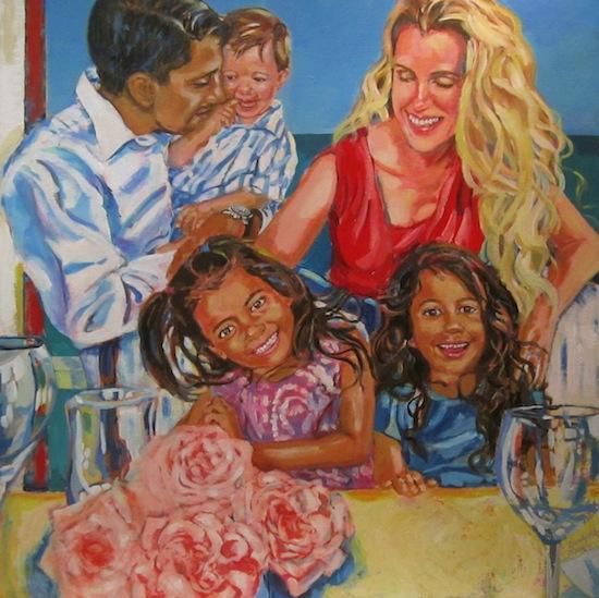Barbara Muir painting