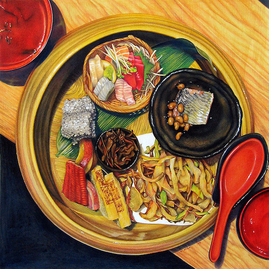 Painting of sushi by Sarah Atlee
