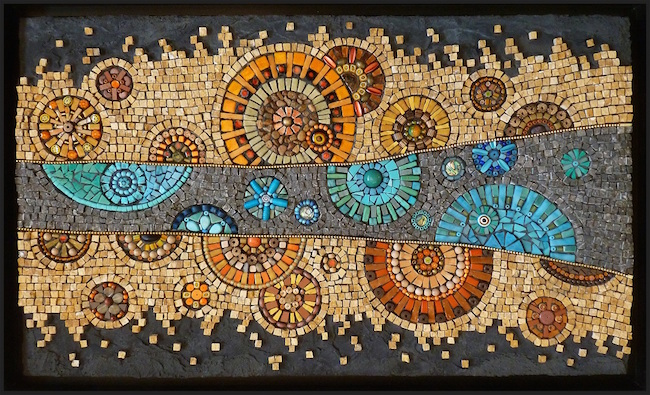 Abstract mosaic by Kathy Thaden