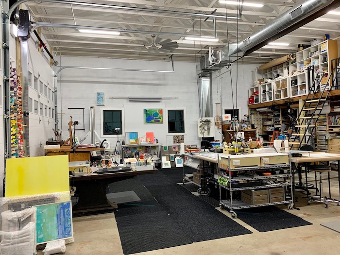 Kelly Milukas's new art studio  | for the Art Biz Podcast